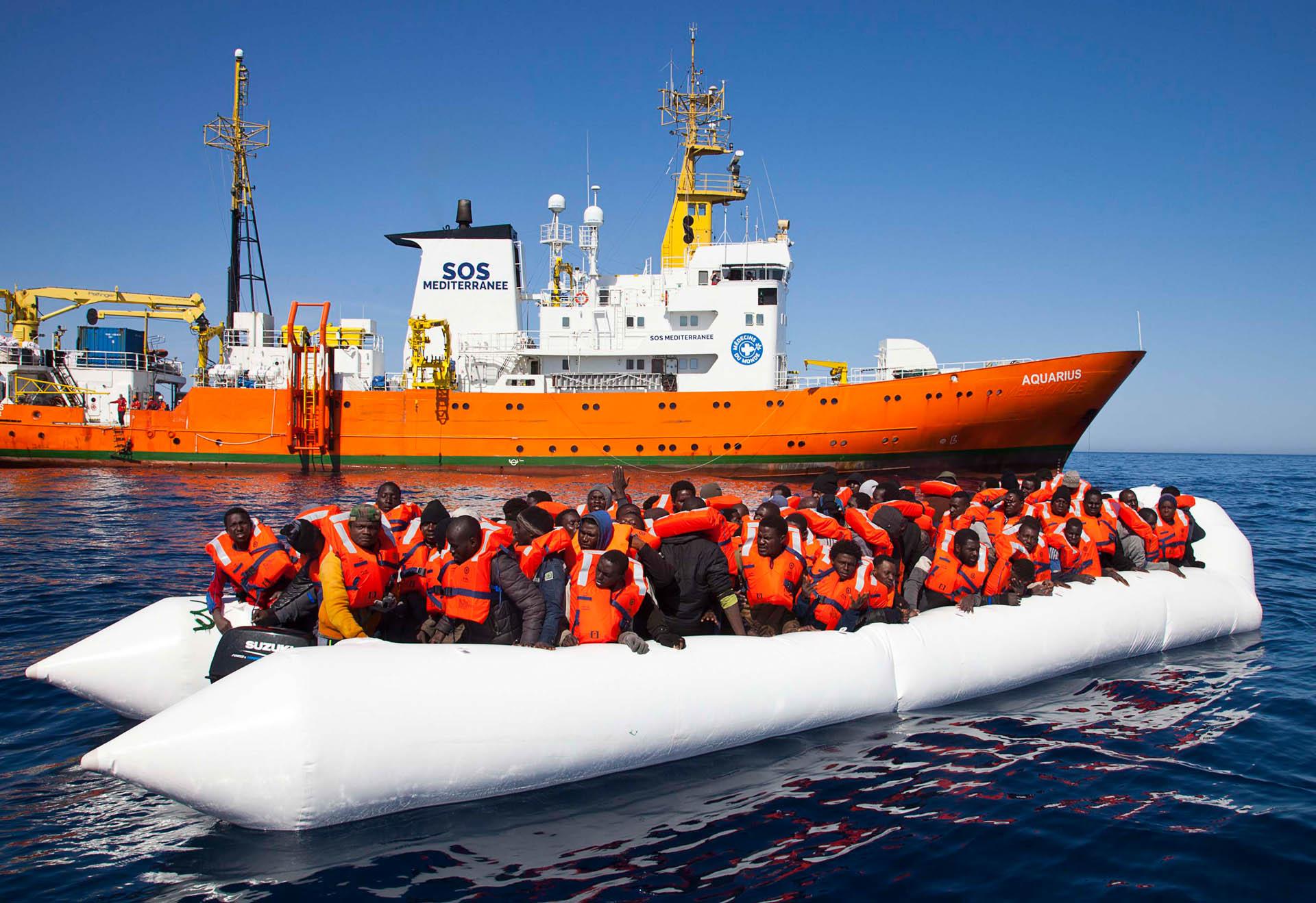 Das Rettungsschiff Aquarius startet seine Mission im Mittelmeer (Foto: Patrick Bar)