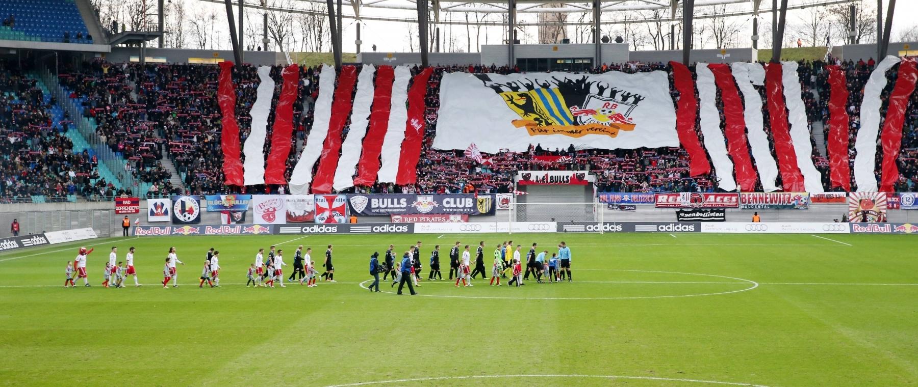 RBL-Rekordkulisse in der Saison 2011/12: Gegen den Halleschen FC kommen 18.295 Fans in die Red-Bull-Arena.