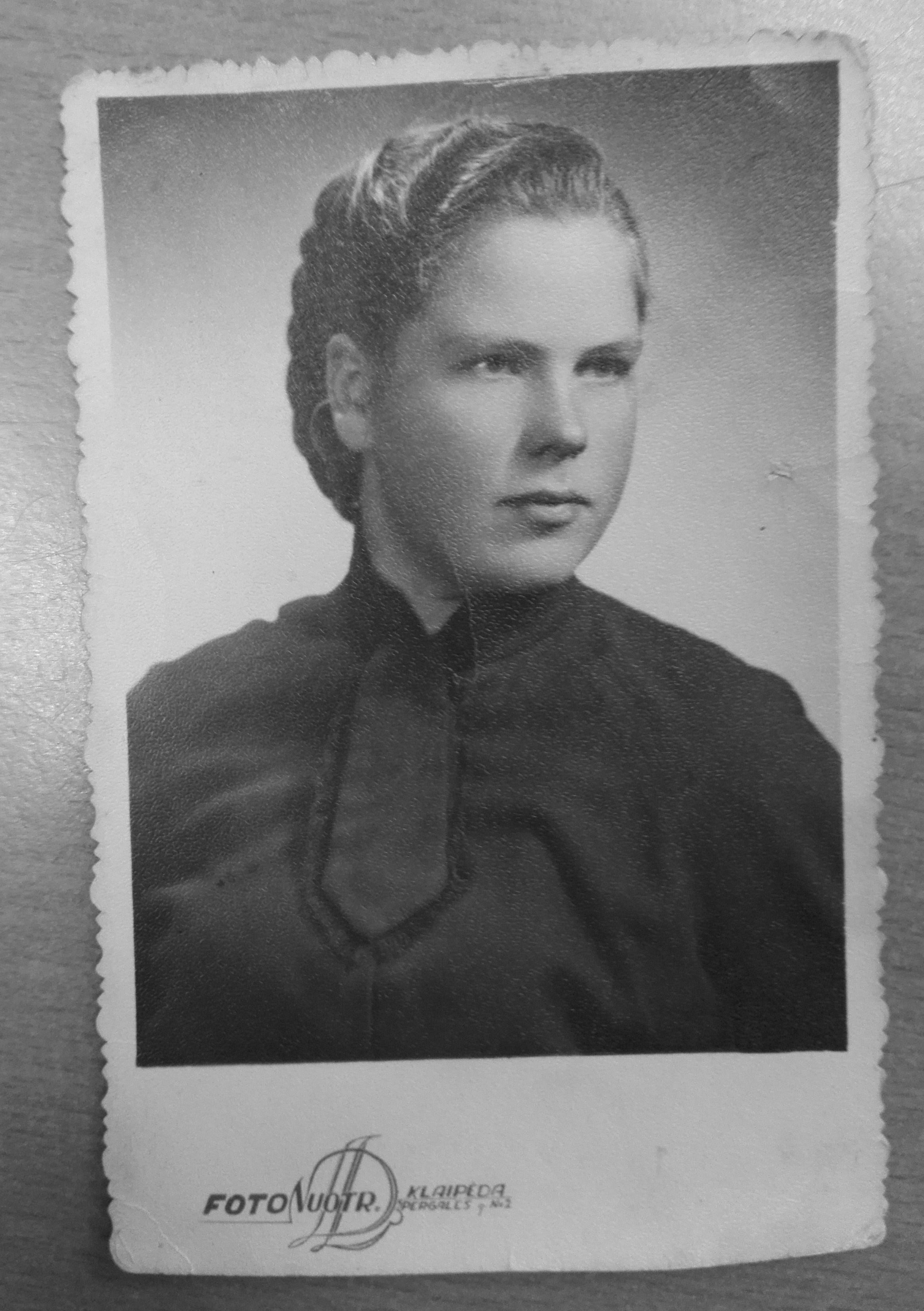 Gisela Launert als junge Erwachsene in Litauen
